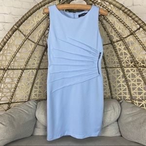 Ivanka Trump Ponte Sleeveless Side Starburst Dress